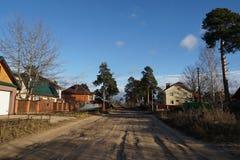 Του χωριού οδός Στοκ φωτογραφία με δικαίωμα ελεύθερης χρήσης