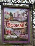 Του χωριού σημάδι Bodiam, ανατολικό Σάσσεξ στοκ εικόνες