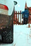 Του χωριού χειμώνας αυτοκινήτων Στοκ φωτογραφίες με δικαίωμα ελεύθερης χρήσης