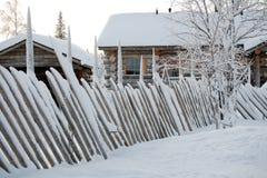 του χωριού χειμώνας στοκ φωτογραφία