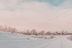 του χωριού vladimir χειμώνας της Ρωσίας περιοχών kozlovo στοκ εικόνες