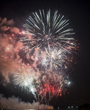Τουλόν (Γαλλία): πυροτεχνήματα Στοκ Εικόνες