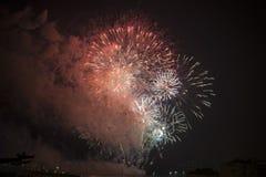 Τουλόν (Γαλλία): πυροτεχνήματα Στοκ Φωτογραφίες