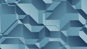 Του Johan το //4k 60fps μπλε γεωμετρικός βρόχος υποβάθρου σύστασης τηλεοπτικός διανυσματική απεικόνιση