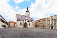 Του ST εκκλησία σημαδιών στο Ζάγκρεμπ Στοκ φωτογραφία με δικαίωμα ελεύθερης χρήσης