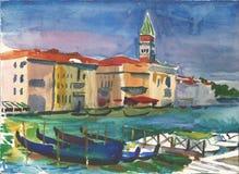 Του ST καμπαναριό του σημαδιού στη Βενετία Στοκ Εικόνες