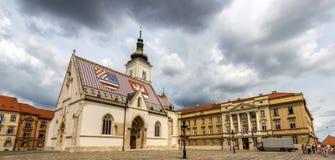 Του ST το κροατικό Κοινοβούλιο του σημαδιού εκκλησία και Στοκ εικόνες με δικαίωμα ελεύθερης χρήσης