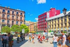 Του ST Michael ` s τουρίστες Square Plaza de SAN Miguel πνεύματος πού είναι Στοκ εικόνα με δικαίωμα ελεύθερης χρήσης