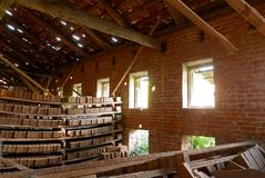 Τούβλα, εργοστάσιο τούβλου Στοκ φωτογραφίες με δικαίωμα ελεύθερης χρήσης