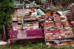 τούβλα που χρωματίζονται στοκ φωτογραφία με δικαίωμα ελεύθερης χρήσης