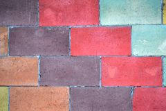 τούβλα τούβλου πολύς παλαιός τοίχος σύστασης αφηρημένη ανασκόπηση ζωηρόχρωμη Στοκ εικόνα με δικαίωμα ελεύθερης χρήσης