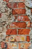 Τούβλινος θρυμματισμένος από το σκηνικό υποβάθρου ταπετσαριών τοίχων στοκ εικόνα με δικαίωμα ελεύθερης χρήσης