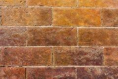 Τούβλινο υπόβαθρο σύστασης τοίχων OD ο τοίχος του πορτοκαλιού χρώματος, ευρύ εκλεκτής ποιότητας ύφος στοκ φωτογραφία