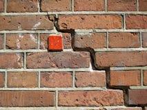 Τούβλο wal με το κόκκινο τετράγωνο Στοκ Εικόνες