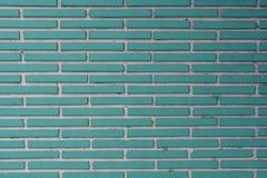 Τούβλα κεραμιδιών Aqua με την άσπρη σύσταση ρευστοκονιάματος Στοκ Εικόνες