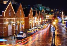 Τούβλινες αποθήκες εμπορευμάτων του Hakodate, Ιαπωνία Στοκ φωτογραφία με δικαίωμα ελεύθερης χρήσης
