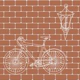 Τούβλινο υπόβαθρο απεικόνισης τοίχων άνευ ραφής διανυσματικό - σύσταση Στοκ εικόνα με δικαίωμα ελεύθερης χρήσης