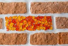 τούβλου κινούμενων σχεδίων τεμαχίων άνευ ραφής ύφους ταπετσαρία τοίχων σύστασης διανυσματική Στοκ Εικόνες