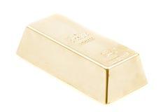 τούβλο που απομονώνεται χρυσό Στοκ Φωτογραφίες