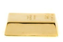 τούβλο που απομονώνεται χρυσό Στοκ φωτογραφία με δικαίωμα ελεύθερης χρήσης