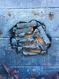 Τούβλο που σπάζουν Στοκ φωτογραφία με δικαίωμα ελεύθερης χρήσης