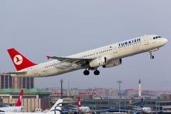 a321 Τούρκος αερογραμμών airbus Στοκ Φωτογραφίες