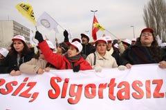Τούρκος γενικής απεργίας Στοκ φωτογραφία με δικαίωμα ελεύθερης χρήσης