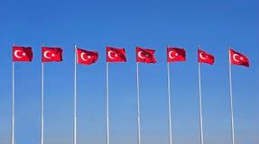 Τούρκος γραμμών σημαιών Στοκ Εικόνα