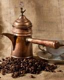 Τούρκος δοχείων καφέ Στοκ Εικόνες