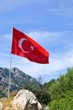 Τούρκος σημαιών στοκ εικόνες