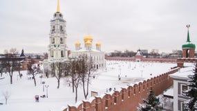 Τούλα Κρεμλίνο κατά τη χειμερινή εναέρια άποψη 05 01 2017 Στοκ εικόνες με δικαίωμα ελεύθερης χρήσης