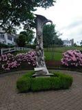 Το άγαλμα προσκυνητών έφθασε μέσω Mayflower στοκ εικόνες με δικαίωμα ελεύθερης χρήσης
