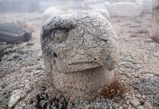 Το άγαλμα στην κορυφή Nemrut τοποθετεί, Τουρκία Στοκ εικόνες με δικαίωμα ελεύθερης χρήσης