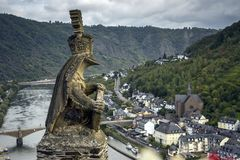 Το άγαλμα στο Cochem Castle Στοκ φωτογραφία με δικαίωμα ελεύθερης χρήσης