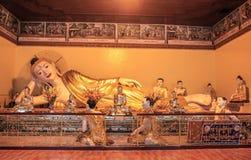 Το άγαλμα του Βούδα στην παγόδα Shwedagon σε Yangoon Στοκ φωτογραφίες με δικαίωμα ελεύθερης χρήσης