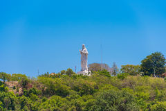 Το άγαλμα του Ιησούς Χριστού στην Αβάνα, Κούβα Διάστημα αντιγράφων για το κείμενο Στοκ εικόνα με δικαίωμα ελεύθερης χρήσης