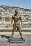 Το άγαλμα του Κριστιάνο Ρονάλντο μπροστά από την είσοδο στο χρώμιο 7 μουσείων στο Φουνκάλ στη Μαδέρα, Πορτογαλία στοκ φωτογραφία με δικαίωμα ελεύθερης χρήσης