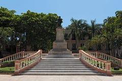 Το άγαλμα του στρατηγού Cepeda Peraza στο πάρκο Hidalgo, Μέριντα, Μεξικό Στοκ Φωτογραφία