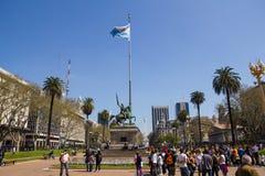 Το άγαλμα του Manuel Belgrano στο Plaza de Mayo στον αέρα Buenos Στοκ εικόνες με δικαίωμα ελεύθερης χρήσης