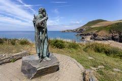 Το άγαλμα του ST Crannog στοκ φωτογραφία με δικαίωμα ελεύθερης χρήσης