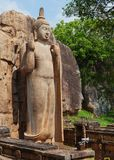 Το άγαλμα Avukana είναι ένα μόνιμο άγαλμα του Βούδα Σρι Λάνκα Στοκ φωτογραφία με δικαίωμα ελεύθερης χρήσης