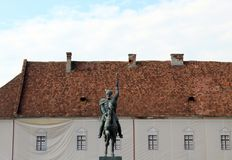 Το άγαλμα Mihai Viteazu στοκ φωτογραφία