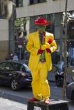 Το άγαλμα μασκών στο Λα Rambla στη Βαρκελώνη Στοκ φωτογραφία με δικαίωμα ελεύθερης χρήσης