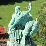 Το άγαλμα που χρωματίζει τον άνθρωπο Στοκ Φωτογραφία