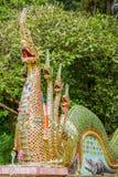 Το άγαλμα ταϊλανδικού Naga στοκ εικόνα με δικαίωμα ελεύθερης χρήσης