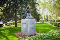 Το άγαλμα της αδελφής Juana Ines de la Cruz ποιητών αφιέρωσε από το Μεξικό Στοκ εικόνες με δικαίωμα ελεύθερης χρήσης