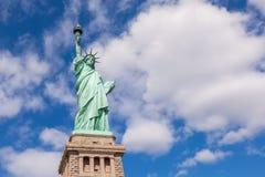 Το άγαλμα της ελευθερίας στην πόλη της Νέας Υόρκης Στοκ φωτογραφίες με δικαίωμα ελεύθερης χρήσης