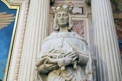 Το άγαλμα του Αγίου στη φραντσησθανή εκκλησία Annunciation στο Λουμπλιάνα Στοκ Εικόνες