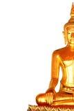 Το άγαλμα του Βούδα περισυλλογής δεξιά πλευρών που απομονώνεται στο άσπρο υπόβαθρο Στοκ Εικόνα