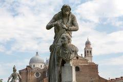 Το άγαλμα του Antonio Canova 1757-1822 ποιος ήταν ιταλικός γλύπτης από τη Δημοκρατία της Βενετίας Το άγαλμα βρίσκεται σε Prato δ Στοκ Εικόνες